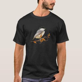 Chickadee on Jeweled Leaves T-Shirt