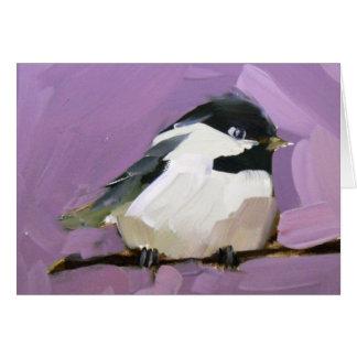 Chickadee on Purple Card