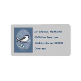 Chickadee Oval Gray Background