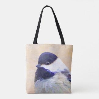 Chickadee Painting - Original Bird Art Tote Bag