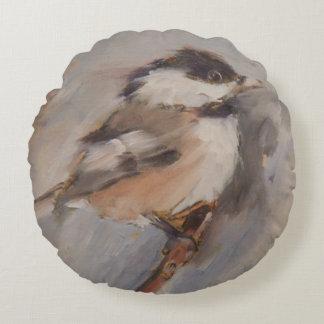 Chickadee Pillow Bird Art Avian Art Throw Pillow