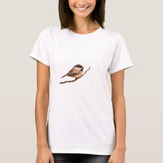 Chickadee Pyrography T-Shirt