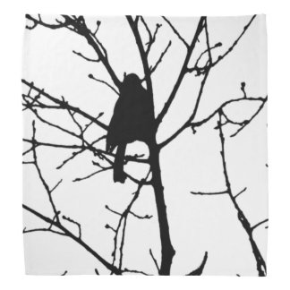 Chickadee Silhouette Love Bird Watching Bandana