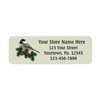 Chickadee Small Return Address Label