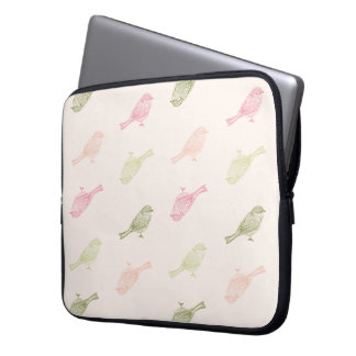 Chickadee Soft Pattern Laptop Sleeve