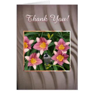 Chickadee - Thank You Card