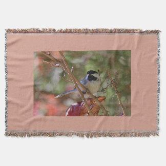 Chickadee Throw Blanket