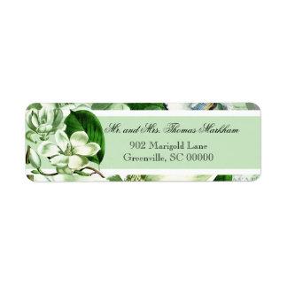 Chickadees and Magnolias Custom Address Labels