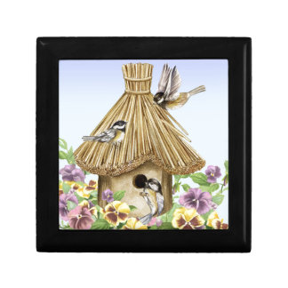 Chickadees Birdhouse Gift Box