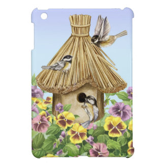 Chickadees Birdhouse iPad Mini Covers