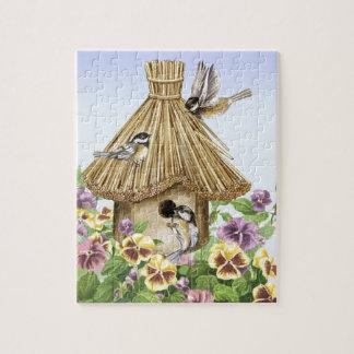 Chickadees Birdhouse Jigsaw Puzzle