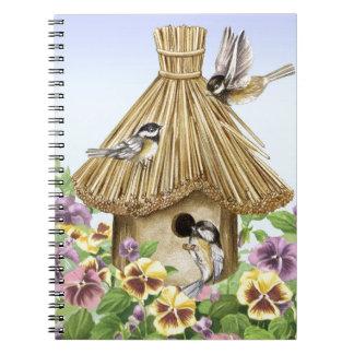 Chickadees Birdhouse Notebooks