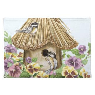 Chickadees Birdhouse Placemat