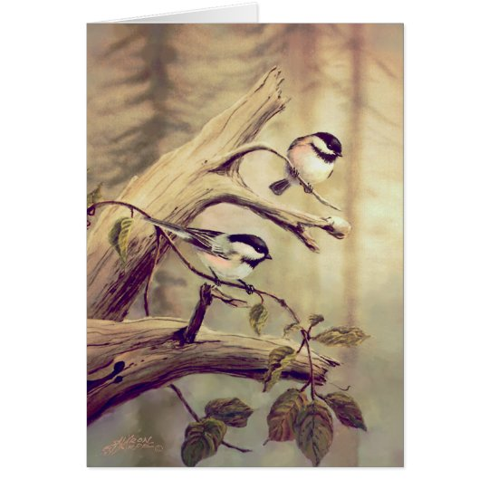 CHICKADEES by SHARON SHARPE Card