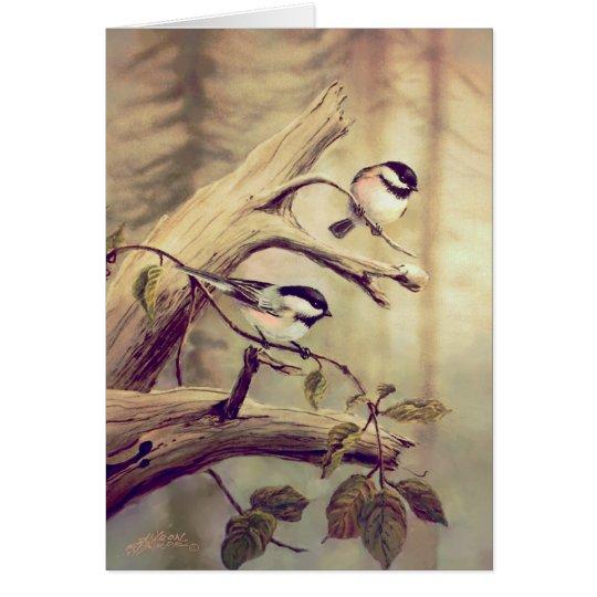 CHICKADEES by SHARON SHARPE Card