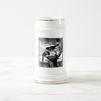 Chickadees in a nest 18 oz beer stein