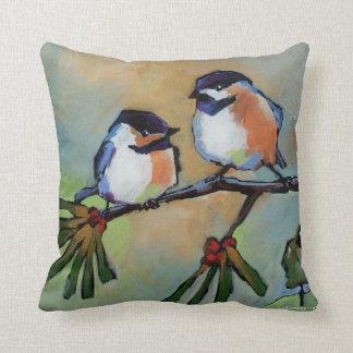 Chickadees Throw Pillow