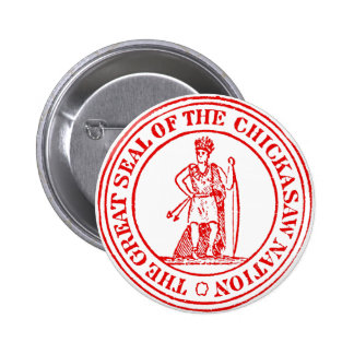 Chickasaw Seal 2 Inch Round Button