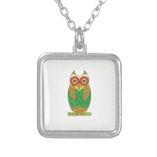 Chickcharnie silver plated square necklace