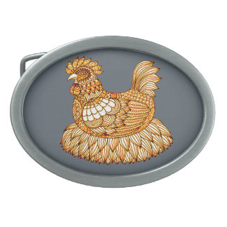 Chicken 2 belt buckles