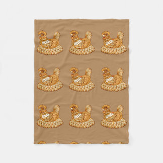 Chicken 2 fleece blanket