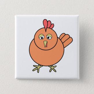 Chicken 2 Inch Square Button