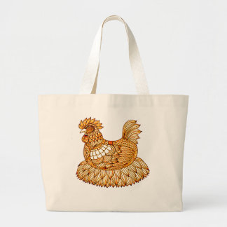 Chicken 2 large tote bag