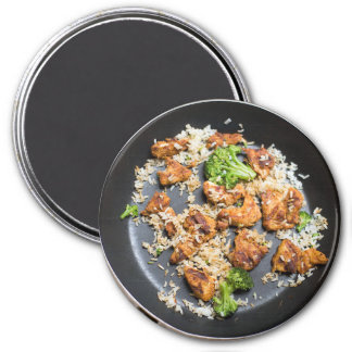 Chicken and Broccoli Stir Fry Refrigerator Magnet