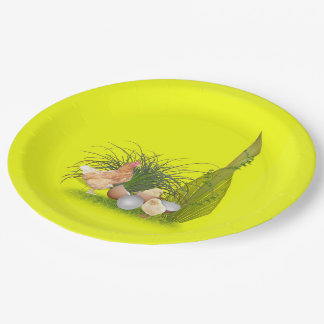 Chicken and Chicks Paper Plate