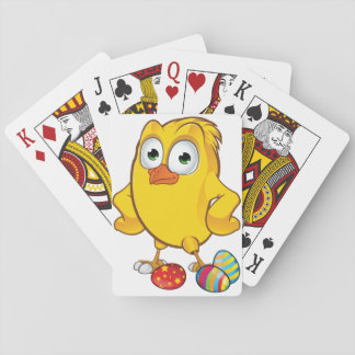 Chicken And Easter Eggs Playing Cards