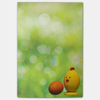 Chicken and Egg on Green Post-it Notes