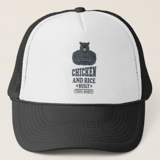 Chicken And Rice Built This Body fitness Trucker Hat