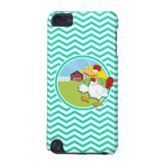 Chicken Aqua Green Chevron iPod Touch 5G Case