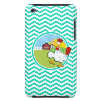 Chicken Aqua Green Chevron iPod Touch Covers