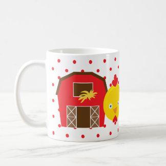 Chicken Barn Farm Animal Dot Morning Sunshine Mug