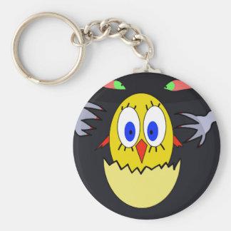 Chicken Basic Round Button Keychain