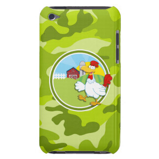 Chicken bright green camo camouflage iPod touch Case-Mate case