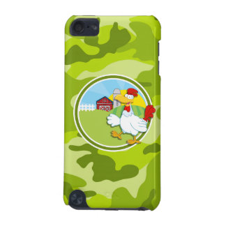 Chicken bright green camo camouflage iPod touch (5th generation) case