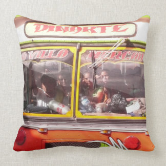 Chicken Bus - Nicaragua Throw Pillow