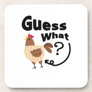 Chicken Butt  Guess What? Funny Chicken Lover Gift Coaster