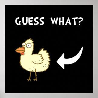 Chicken Butt Poster