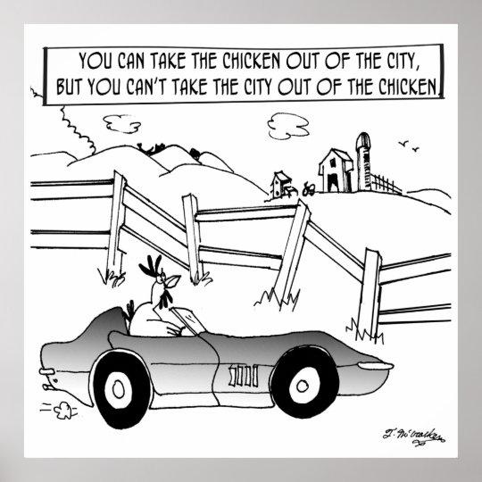 Chicken Cartoon 9484 Poster