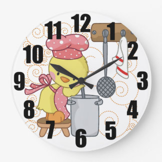Chicken Chef Large Kitchen Clock