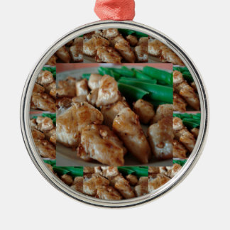 Chicken Chefs American healthy eating food cuisine Silver-Colored Round Ornament
