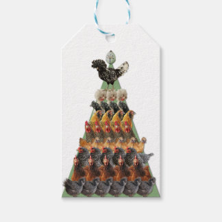 Chicken Christmas Tree Gift Tag