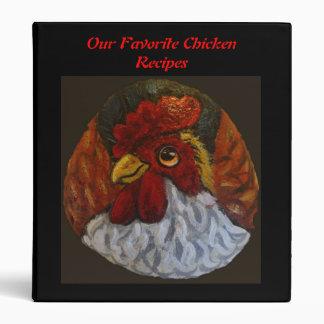 Chicken Cookbook Binder