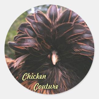 Chicken Couture Classic Round Sticker