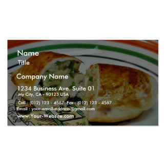 Chicken Dinner Stuffed Stuffing Double-Sided Standard Business Cards (Pack Of 100)