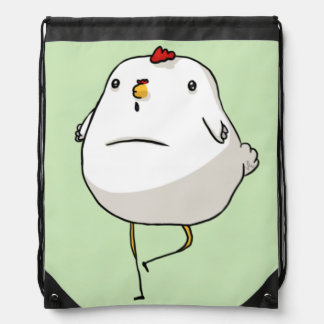 Chicken Drawstring Bag Design By Victoria Blouin