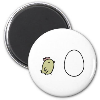 Chicken & Egg 2 Inch Round Magnet